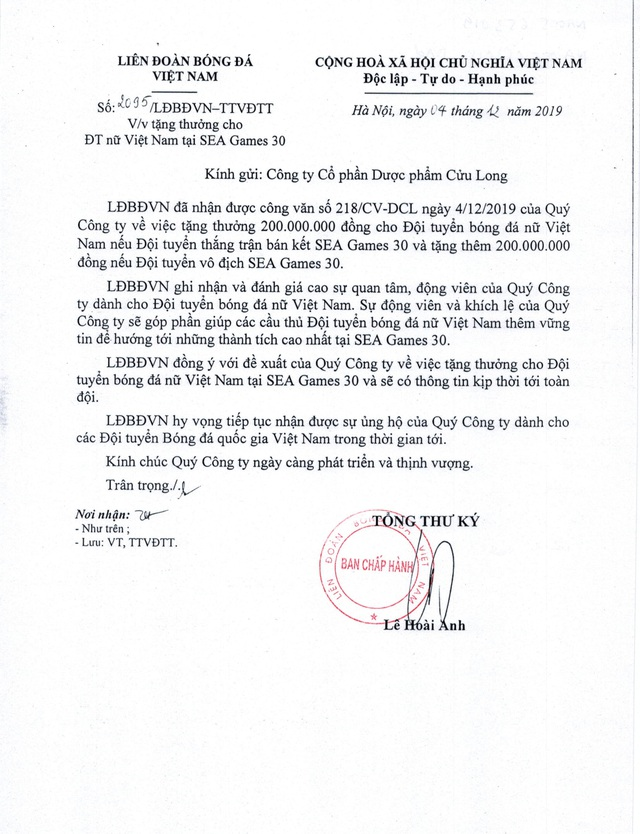 Fit Group tặng thưởng 2,4 tỉ đồng cho bóng đá Việt - Ảnh 2.