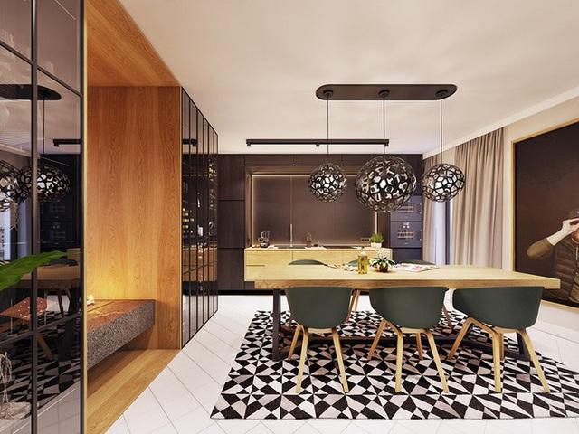 Chiêm ngưỡng căn hộ thiết kế ngẫu hứng đẹp cuốn hút - Ảnh 4.