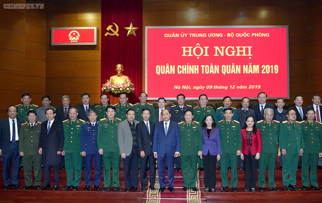 CHÙM ẢNH: Thủ tướng dự Hội nghị Quân chính toàn quân - Ảnh 6.