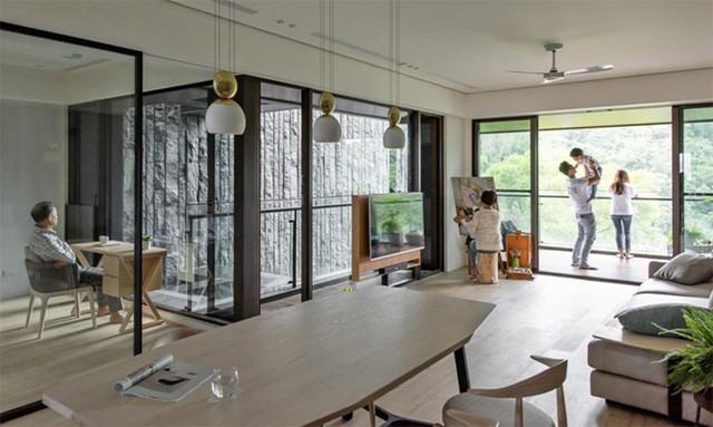 Ngôi nhà có phong một sốh mở có 3 thế hệ sống chung - Ảnh 1.