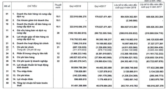 Taseco Airs (AST) báo lãi 163 tỷ đồng trong năm 2018, tăng trưởng 10% - Ảnh 2.