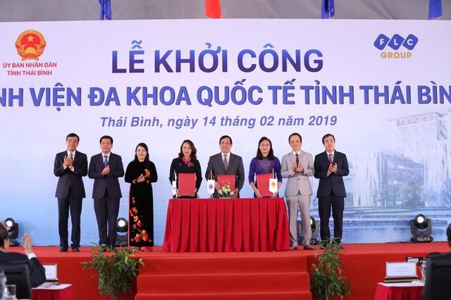 Thủ tướng nhấn nút khởi công Bệnh viện Đa khoa Quốc tế 1.000 giường tại Thái Bình - Ảnh 2.