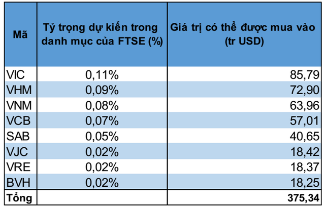 1,2 tỷ USD vốn ngoại sẽ đổ vào những cổ phiếu nào khi Việt Nam được nâng hạng lên thị trường mới nổi? - Ảnh 1.