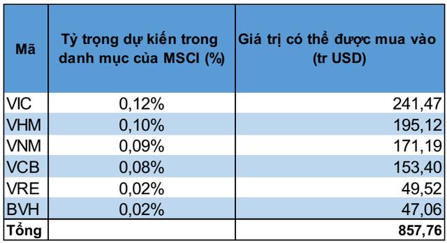 1,2 tỷ USD vốn ngoại sẽ đổ vào những cổ phiếu nào khi Việt Nam được nâng hạng lên thị trường mới nổi? - Ảnh 2.