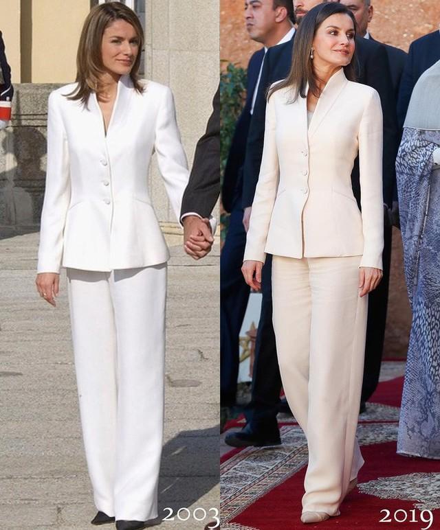 Tiết kiệm đỉnh cao như Hoàng hậu Letizia: Mặc lại bộ suit sau 16 năm vẫn đẹp, nhưng lý do đằng sau sẽ khiến bạn tan chảy - Ảnh 1.