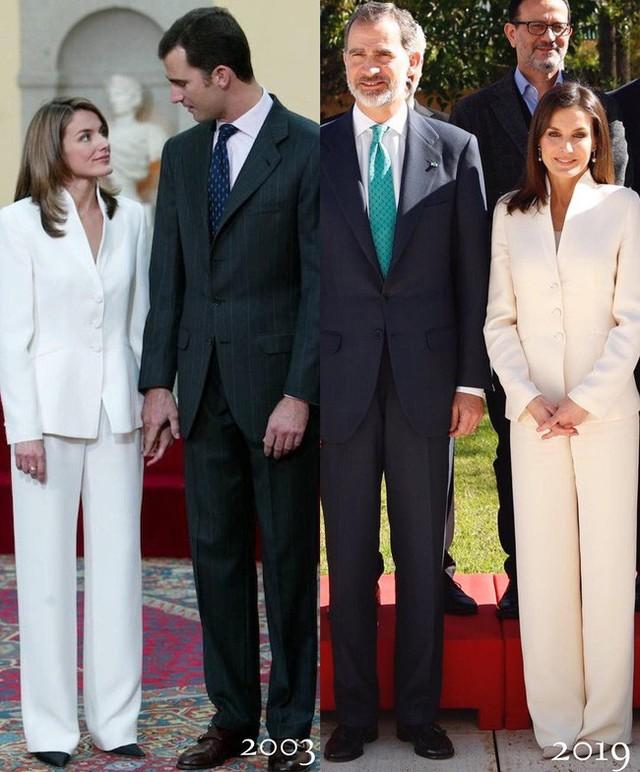 Tiết kiệm đỉnh cao như Hoàng hậu Letizia: Mặc lại bộ suit sau 16 năm vẫn đẹp, nhưng lý do đằng sau sẽ khiến bạn tan chảy - Ảnh 3.