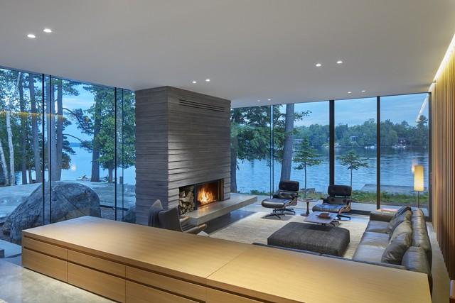 Ngôi nhà trên diện tích hơn 2.700 m2 có lưng dựa rừng thông cổ thụ, mặt hướng hồ - Ảnh 7.