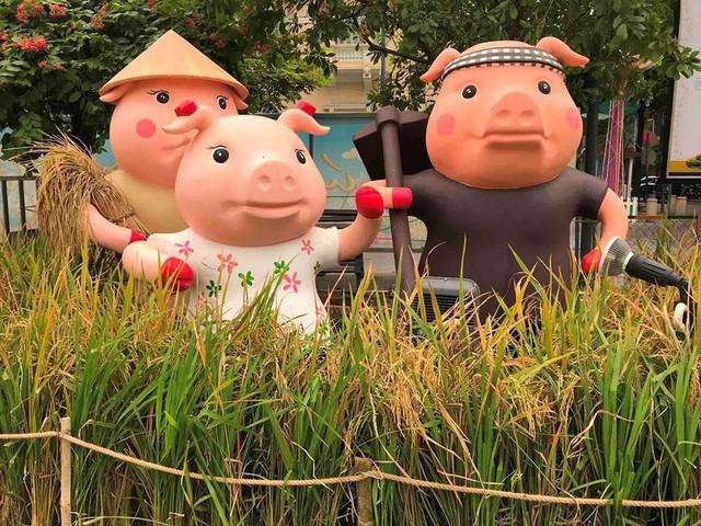 Những chú heo ngộ nghĩnh trên đường hoa Nguyễn Huệ - Ảnh 12.