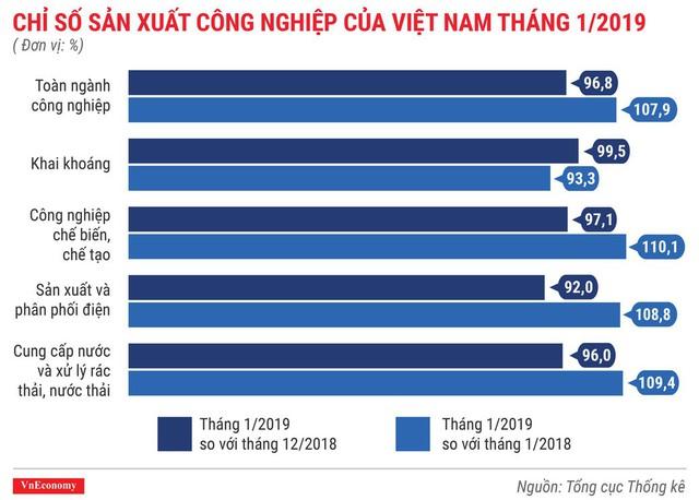 Toàn cảnh bức tranh kinh tế Việt Nam tháng 1/2019 qua các con số - Ảnh 4.