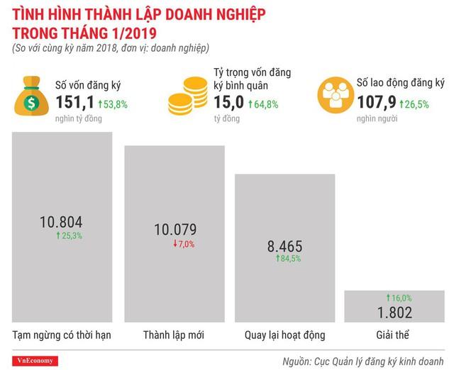 Toàn cảnh bức tranh kinh tế Việt Nam tháng 1/2019 qua các con số - Ảnh 8.