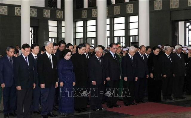 Lễ tang cấp Nhà nước nguyên Phó Chủ tịch Quốc hội Nguyễn Phúc Thanh  - Ảnh 2.
