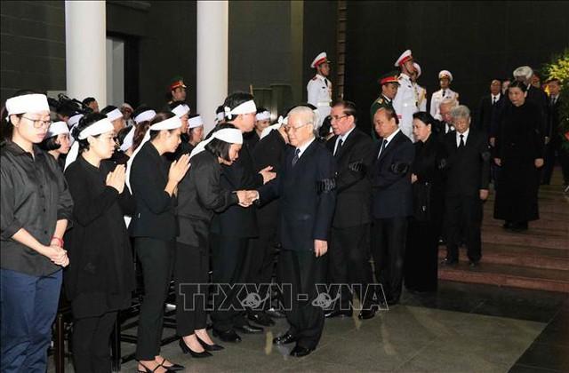 Lễ tang cấp Nhà nước nguyên Phó Chủ tịch Quốc hội Nguyễn Phúc Thanh  - Ảnh 3.