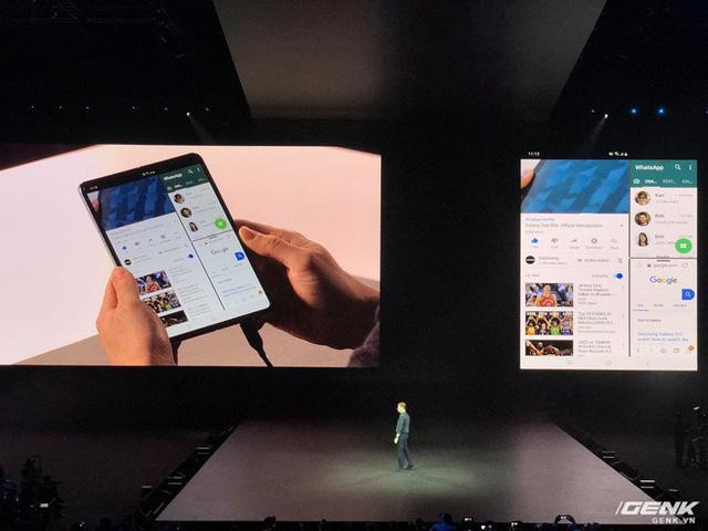 Smartphone màn hình gập Samsung Galaxy Fold chính thức ra mắt: Giá 1980 USD, màn hình 4.6 inch gập mở thành 7.3 inch, RAM 12GB, 6 camera, bộ nhớ trong 512GB UFS 3.0 - Ảnh 3.