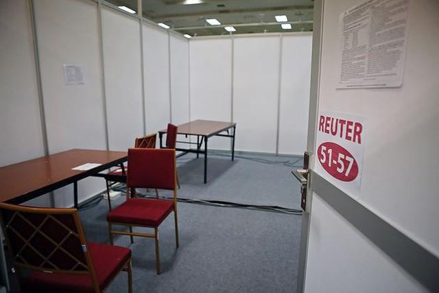 Trung tâm báo chí hoàn thiện trước thềm Hội nghị thượng đỉnh Mỹ-Triều - Ảnh 11.