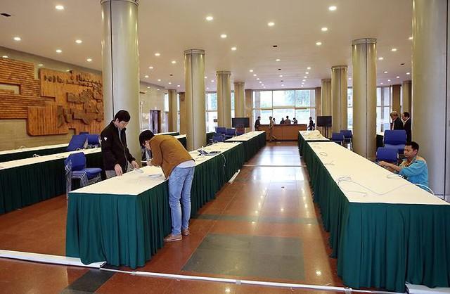 Trung tâm báo chí hoàn thiện trước thềm Hội nghị thượng đỉnh Mỹ-Triều - Ảnh 13.