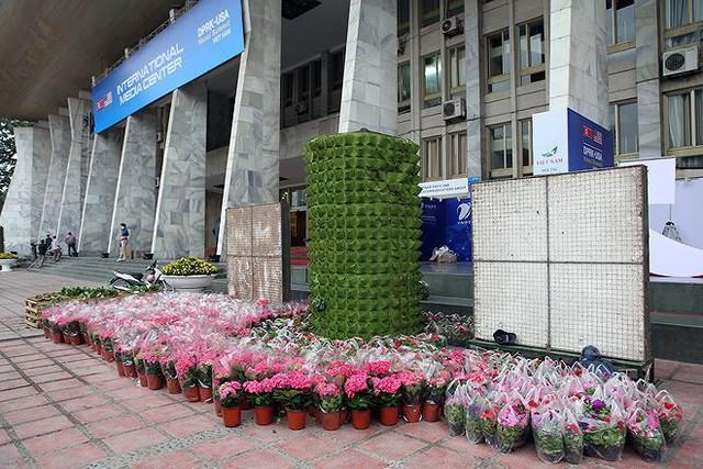 Trung tâm báo chí hoàn thiện trước thềm Hội nghị thượng đỉnh Mỹ-Triều - Ảnh 22.