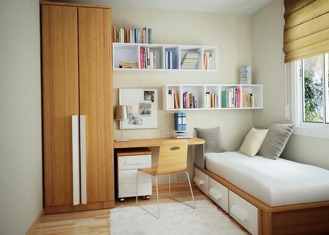 Cách thiết kế, bố trí phòng ngủ có diện tích nhỏ hẹp - Ảnh 1.