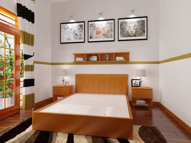 Cách thiết kế, bố trí phòng ngủ có diện tích nhỏ hẹp - Ảnh 2.