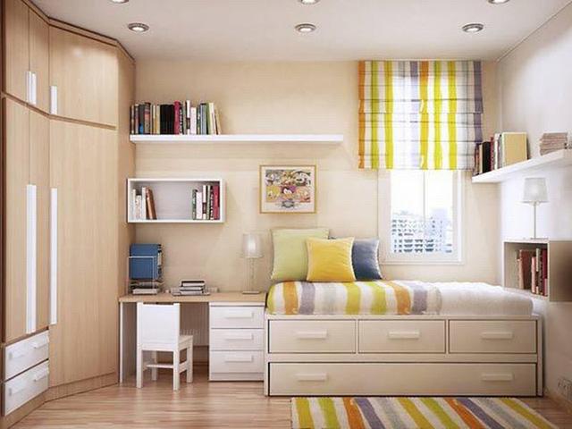 Cách thiết kế, bố trí phòng ngủ có diện tích nhỏ hẹp - Ảnh 3.