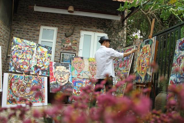 Thiết kế đặc biệt của quán cà phê Hà Nội ngập tràn tranh chân dung ông Donald Trump và ông Kim Jong Un - Ảnh 3.