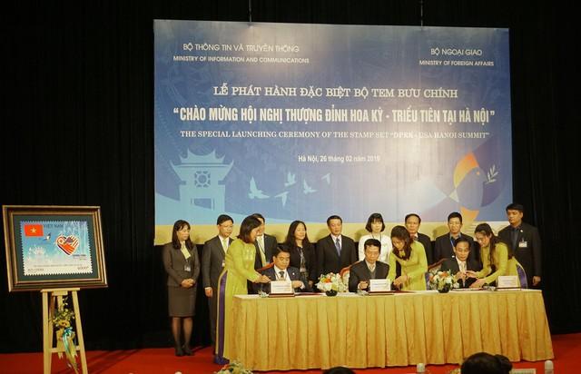 Việt Nam phát hành bộ tem kỷ niệm Hội nghị Thượng đỉnh Mỹ - Triều - Ảnh 2.
