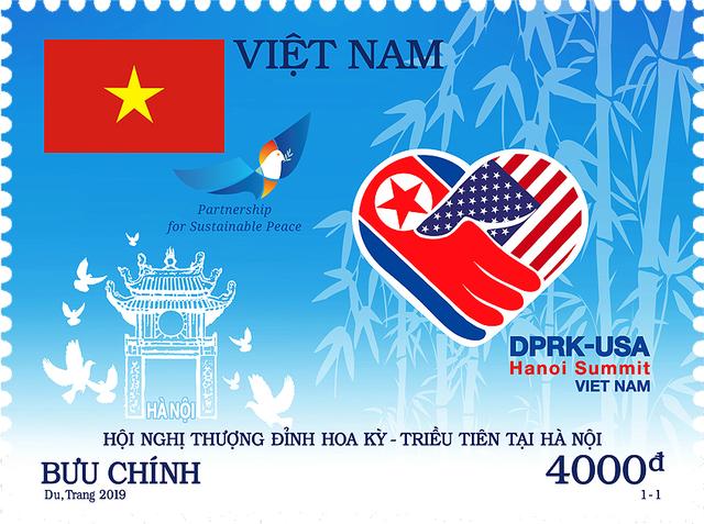 Việt Nam phát hành bộ tem kỷ niệm Hội nghị Thượng đỉnh Mỹ - Triều - Ảnh 1.