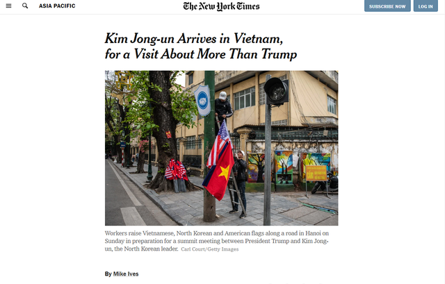 Báo chí quốc tế rầm rộ đưa tin về thượng đỉnh Mỹ - Triều diễn ra tại Hà Nội - Ảnh 4.