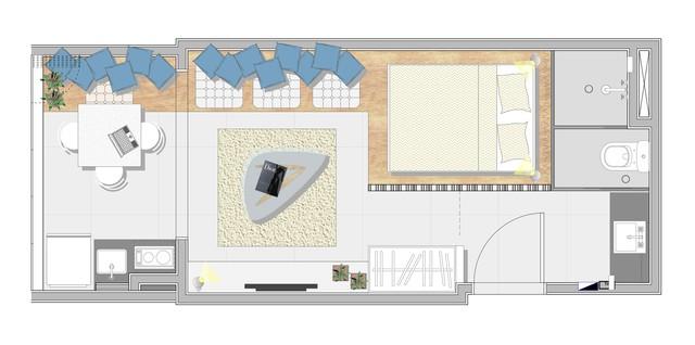 Căn hộ 27 m2 dù nhỏ vẫn đầy đủ tiện nghi và không gian riêng tư - Ảnh 8.