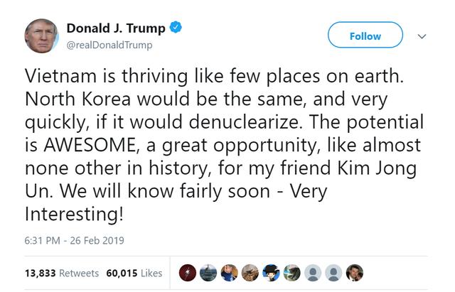 Tổng thống Donald Trump: Việt Nam đang phát triển rất mạnh, Triều Tiên cũng sẽ như vậy, và rất nhanh thôi... - Ảnh 2.