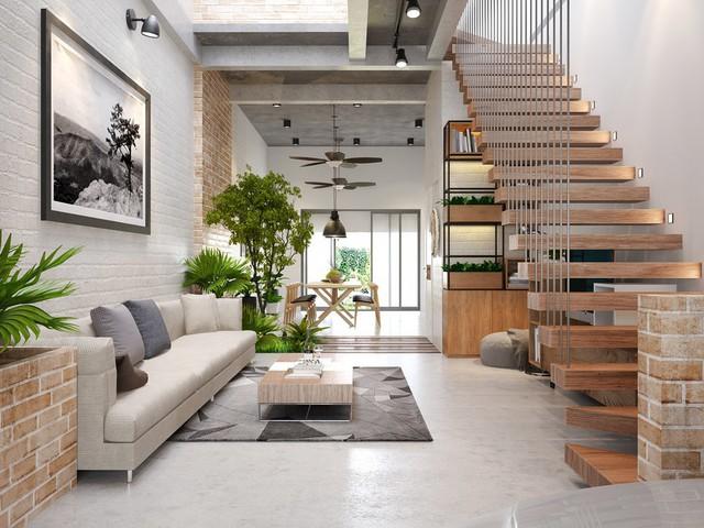 Những ý tưởng thiết kế nội thất phòng khách nhà ống năm 2019 - Ảnh 4.