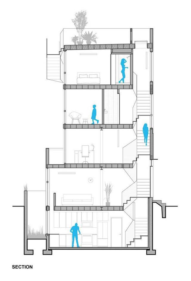 """Xây nhà như """"tòa tháp tí hon"""" trên nền đất hẹp - Ảnh 9."""