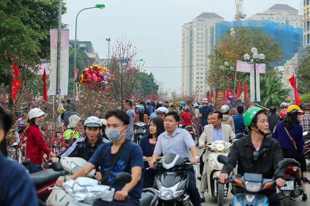 Quất, đào đại hạ giá tràn ngập phố Hà Nội ngày 30 Tết - Ảnh 1.