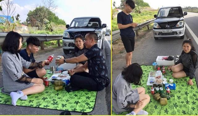 Dân mạng phẫn nộ với gia đình dừng xe, mở tiệc trên cao tốc Nội Bài - Lào Cai - Ảnh 1.