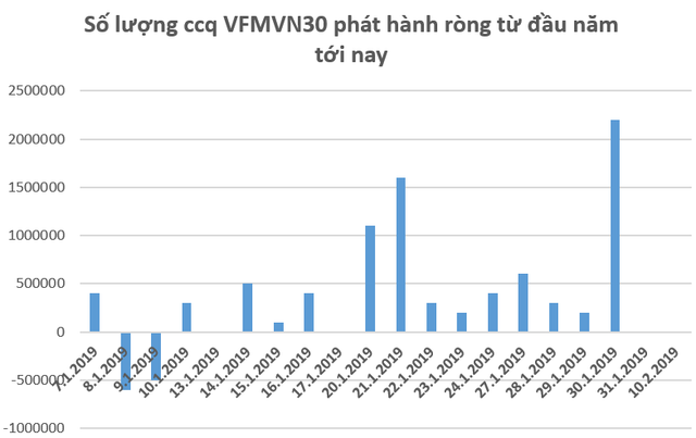 Các quỹ ETF trên thị trường chứng khoán Việt Nam hút ròng hàng chục triệu USD trong những ngày đầu năm 2019 - Ảnh 1.