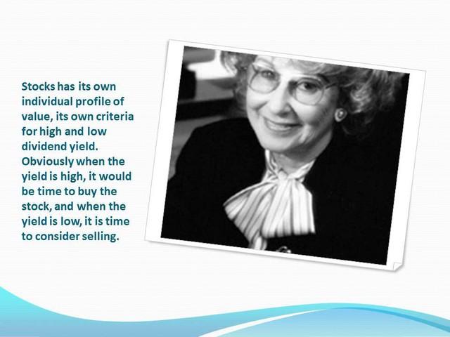 [Quy tắc đầu tư vàng] Nữ huyền thoại Geraldine Weiss – bí quyết đầu tư hiệu quả mà không cần đến đặt cược rủi ro - Ảnh 1.