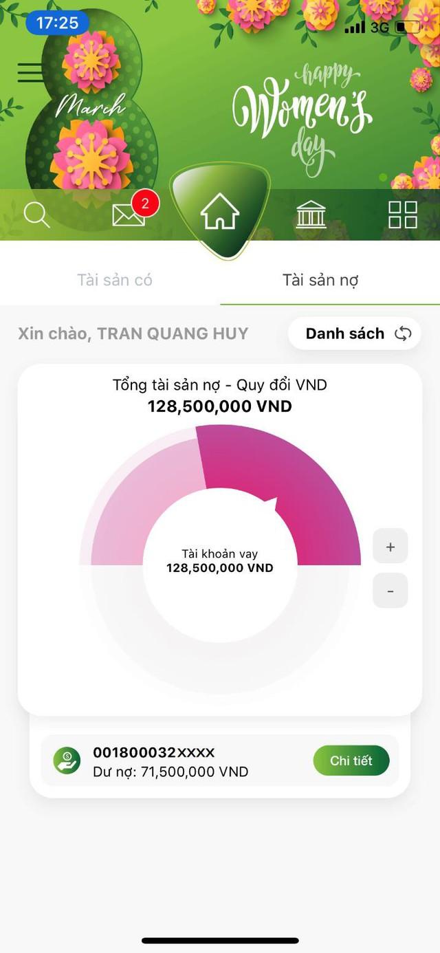 """Vietcombank ra mắt 2 tính năng mới """"Gửi quà may mắn"""" và """"Quản lý tài khoản cá nhân"""" trên VCB-Mobile B@nking - Ảnh 3."""