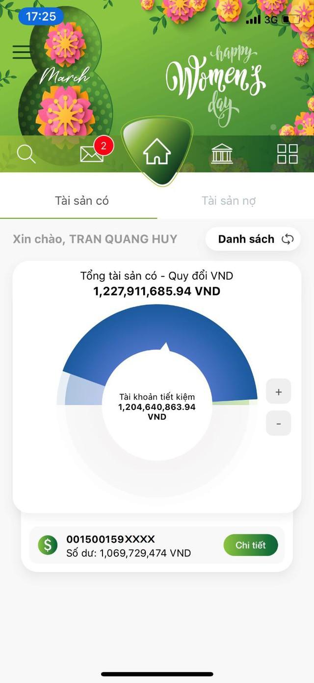"""Vietcombank ra mắt 2 tính năng mới """"Gửi quà may mắn"""" và """"Quản lý tài khoản cá nhân"""" trên VCB-Mobile B@nking - Ảnh 4."""