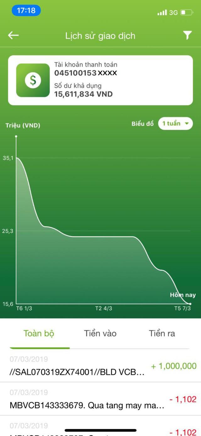 """Vietcombank ra mắt 2 tính năng mới """"Gửi quà may mắn"""" và """"Quản lý tài khoản cá nhân"""" trên VCB-Mobile B@nking - Ảnh 5."""