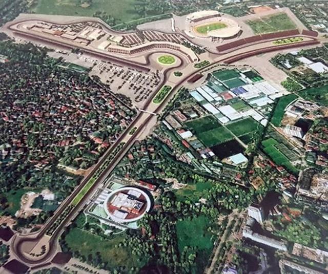 ẢNH: Hà Nội giải phóng mặt bằng, thi công đường đua F1 - Ảnh 1.