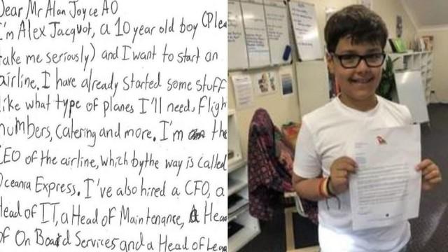 """""""Choáng"""" trước ước mơ làm giàu khi xin bí quyết mở hãng hàng không của cậu bé 10 tuổi nhưng câu trả lời của CEO Qantas mới khiến nhiều người thích thú! - Ảnh 1."""