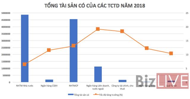 Tổng tài sản hệ thống ngân hàng biến động thế nào trong năm 2018? - Ảnh 1.