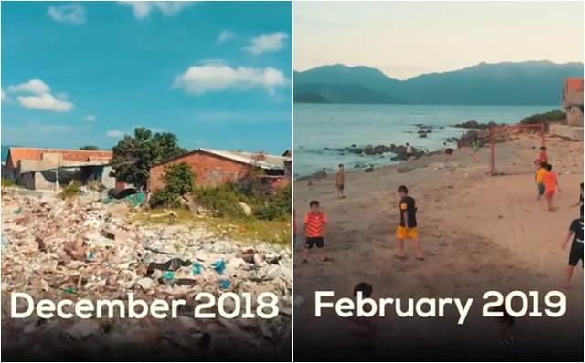 Clip về sự thay đổi của bãi biển Nha Trang nhờ nhóm bạn ngoại quốc khiến cộng đồng trầm trồ: Nơi ngập rác thành sân bóng cho trẻ em - Ảnh 11.