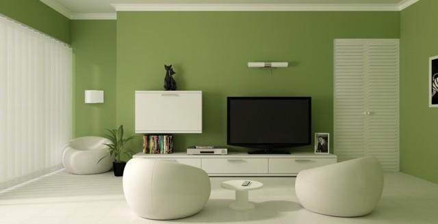 Phòng khách có màu xanh lá cây tạo cảm giác gần gũi có môi trường xung quanh - Ảnh 1.