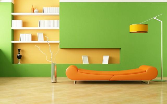 Phòng khách có màu xanh lá cây tạo cảm giác gần gũi có môi trường xung quanh - Ảnh 5.