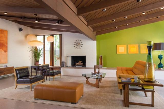 Phòng khách có màu xanh lá cây tạo cảm giác gần gũi có môi trường xung quanh - Ảnh 10.