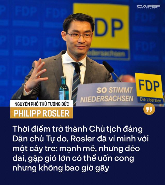 Nguyên Phó Thủ tướng Đức Philipp Rosler và hình tượng cây tre khi trở thành Chủ tịch Đảng Dân chủ Tự do - Ảnh 3.