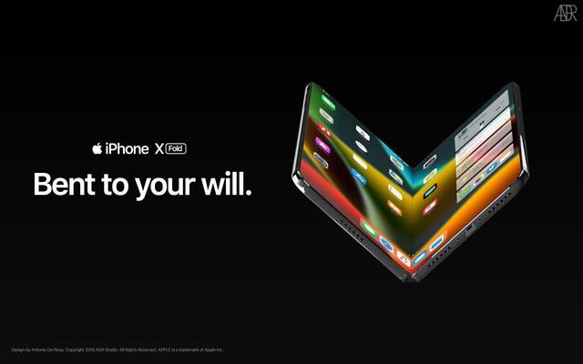 iPhone X màn hình gập trông như thế nào? - Ảnh 1.