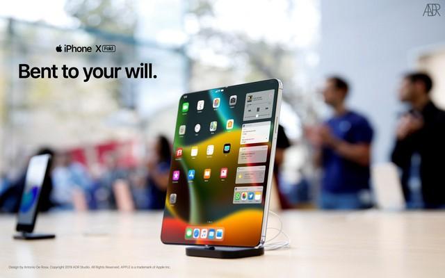 iPhone X màn hình gập trông như thế nào? - Ảnh 2.