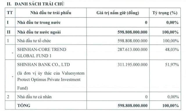Tài chính Hoàng Huy (TCH) đã phát hành gần 600 tỷ đồng trái phiếu chuyển đổi cho Shinhan Bank và Shinhan Core Trend Global - Ảnh 1.