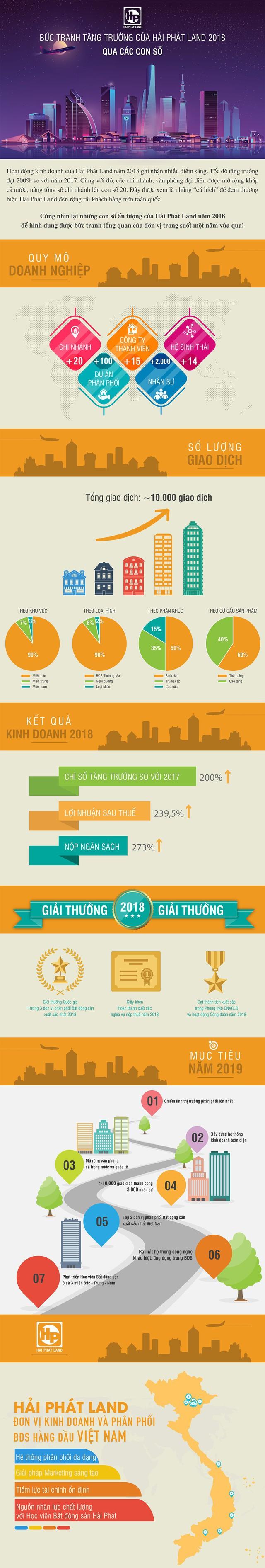Bức tranh tăng trưởng của Hải Phát Land 2018 qua các con số - Ảnh 1.